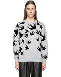 McQ - Grey Swallow Signature Sweatshirt - Lyst