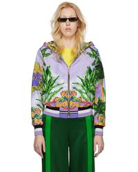Versace - Reversible Multicolor Hooded Bomber Jacket - Lyst