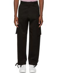 Versace - Black Cotton Cargo Trousers - Lyst