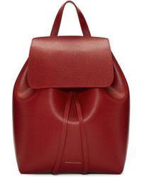 Mansur Gavriel - Red Saffiano Mini Backpack - Lyst