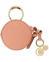 Chloé - Pink Mini Round Coin Pouch - Lyst