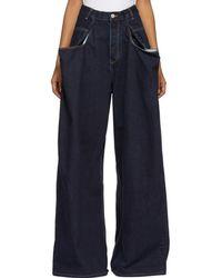 Martine Rose - Indigo 3 X Xl Jeans - Lyst