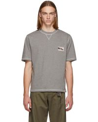 Lhomme Rouge - Grey Climber T-shirt - Lyst