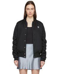 adidas Originals - Black Sc Bomber Jacket - Lyst