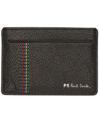 PS by Paul Smith - Black Stripe Stitch Card Holder - Lyst