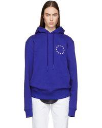 Etudes Studio - Blue Klein Europa Hoodie - Lyst