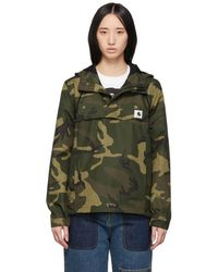 Carhartt WIP - Green And Brown Camo Nimbus Pullover Jacket - Lyst