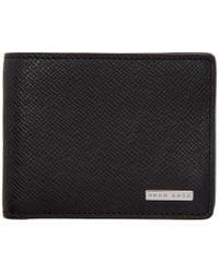 BOSS - Black Signature Wallet - Lyst