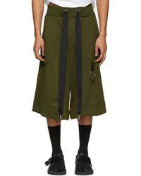 Marques'Almeida | Khaki Tracksuit Shorts | Lyst