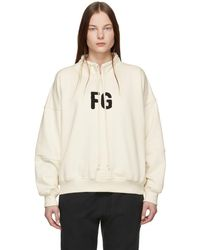 Fear Of God - Off-white Fg Mock Neck Pullover - Lyst