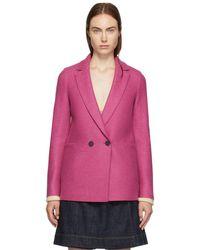 Harris Wharf London - Pink Pressed Boxy Blazer Jacket - Lyst