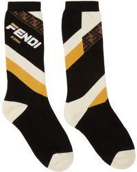 Fendi - Black Mania Socks - Lyst