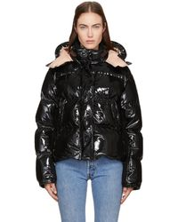 Moncler | Black Down Shiny Hooded Gaura Jacket | Lyst