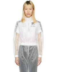 MISBHV - Transparent Cropped See-through Track Jacket - Lyst