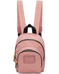 Marc Jacobs - Pink Mini Double Backpack - Lyst