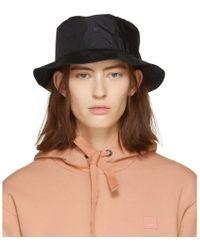 65e67b5e Acne Studios Black Buk Face Tech Bucket Hat