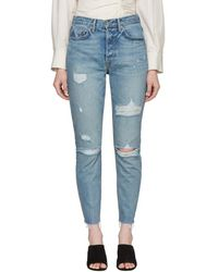 GRLFRND - Blue Karolina Butt Slit Jeans - Lyst