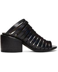 Marsèll | Black Multi Strap Sandals | Lyst