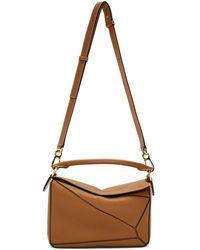 Loewe - Tan Small Puzzle Bag - Lyst