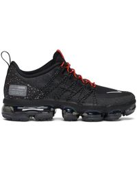 Nike - Black And Red Air Vapormax Run Utility Trainers - Lyst