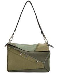 Loewe - Khaki Multi-tone Xl Puzzle Bag - Lyst