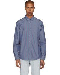 A.P.C. - Blue Pinstripe Will Shirt - Lyst