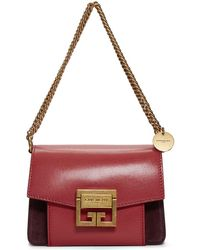 Givenchy - Red And Burgundy Mini Gv3 Shoulder Bag - Lyst