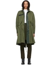 Sacai Khaki Oxford Coat