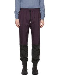79a1f8d4401830 Givenchy - Purple Two-toned Vertical Lounge Trousers - Lyst
