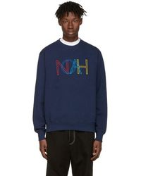 Noah - Navy Colours Logo Pullover - Lyst