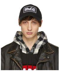 McQ - Black Embroidered Metal Logo Cap - Lyst