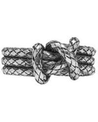 Bottega Veneta - Silver Knot Ring - Lyst