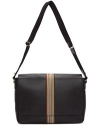 Paul Smith - Black Multistripe Messenger Bag - Lyst