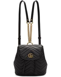 Gucci - Black Mini Gg Marmont 2.0 Backpack - Lyst