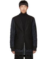 Juun.J - Black Blazer Coat - Lyst