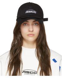 ADER error - Ssense Exclusive Black Ascc Double Brim Cap - Lyst
