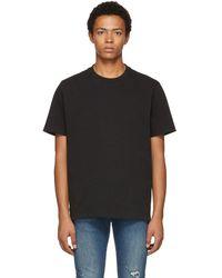 FRAME - Black Classic Fit T-shirt - Lyst