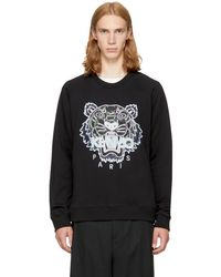 KENZO | Black Relaxed Tiger Sweatshirt | Lyst