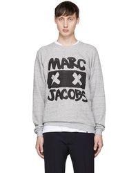 Marc Jacobs - Grey Logo X-face Sweatshirt - Lyst