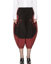 Undercover - Red & Black Violon Trousers - Lyst