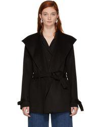 JOSEPH - Black Lima Double Cashmere Short Coat - Lyst