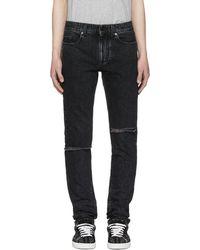 Saint Laurent - Black Skinny Trash Jeans - Lyst
