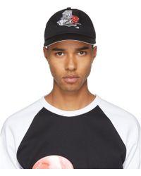 Acne Studios - Black Spilled Cocktail Calis Soft Baseball Cap - Lyst