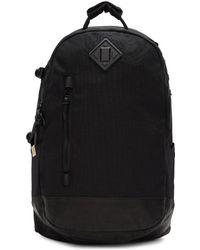Visvim - Black Cordura And Leather 20l Backpack - Lyst