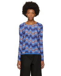 Opening Ceremony - Blue Long Sleeve Double Layer T-shirt - Lyst
