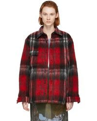Bless - Red And Black Check Woodhacker Jacket - Lyst
