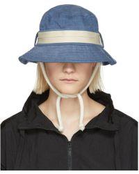 Acne Studios - Blue Sun Sun Bucket Hat - Lyst