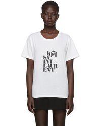 Saint Laurent - White 1971 Logo T-shirt - Lyst