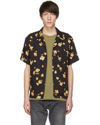 John Elliott - Black Poppy Bowling Shirt - Lyst