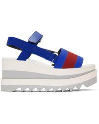Stella McCartney - Striped Platform Sandals - Lyst